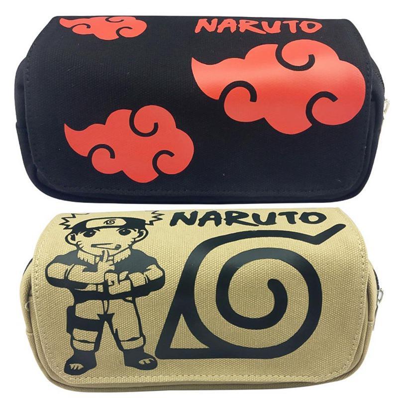 New Anime caixa de lápis lona Grande Capacidade Pencilcase Caso Pen Escola Produtos de papelaria Lápis saco de escola Box Lápis Pouch