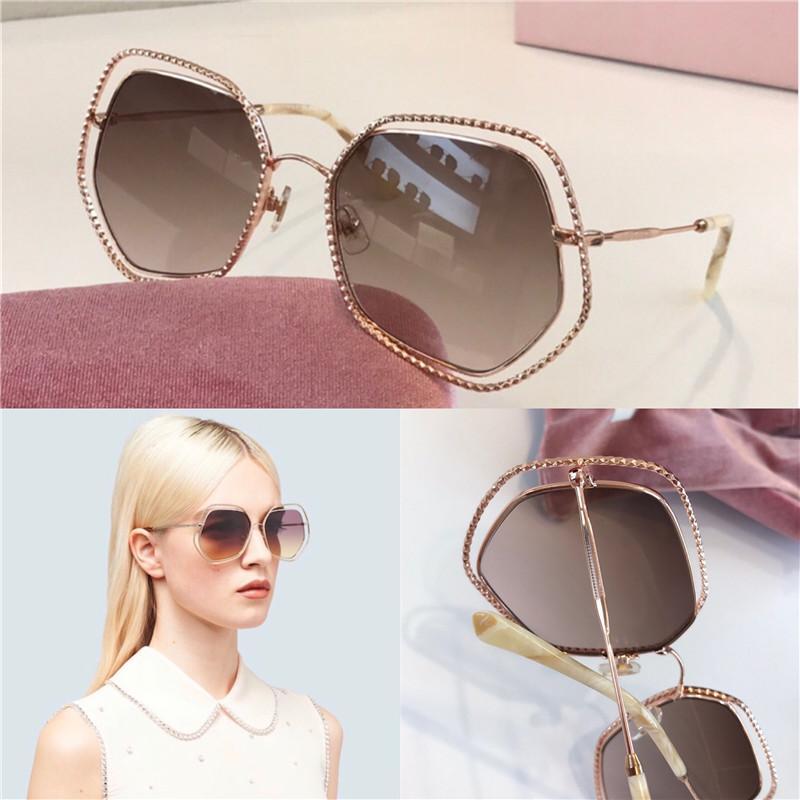Newfashion Frauen Großhandel Sonnenbrille 58VS reizend Katzenauge Metallrahmen spezielles Design populär Laufsteg Stil Top-Qualität