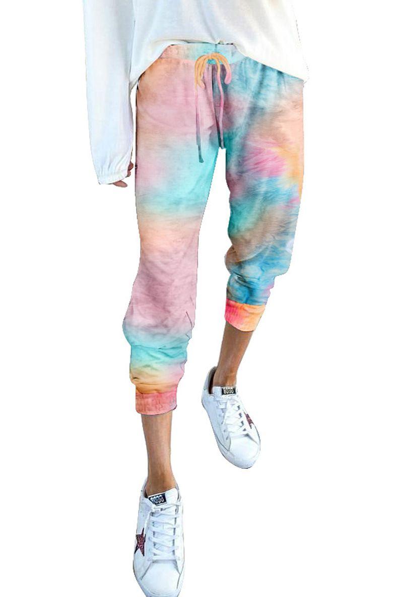 Dhl Free For Пижама Tiedye для женщин Pajama Корта Наборы Met Ronde Халс En Tie-Dye Хороших цветов для Tie Dye Рубашки Даты garden2010 aFffv