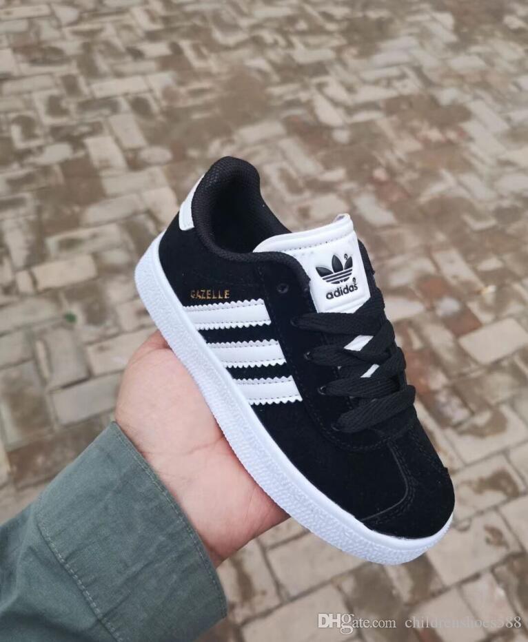 الحار ! 2018 الفتيان والفتيات الأحذية عارضة جديدة أحذية الأطفال غزال 6 لون حجم 25-35