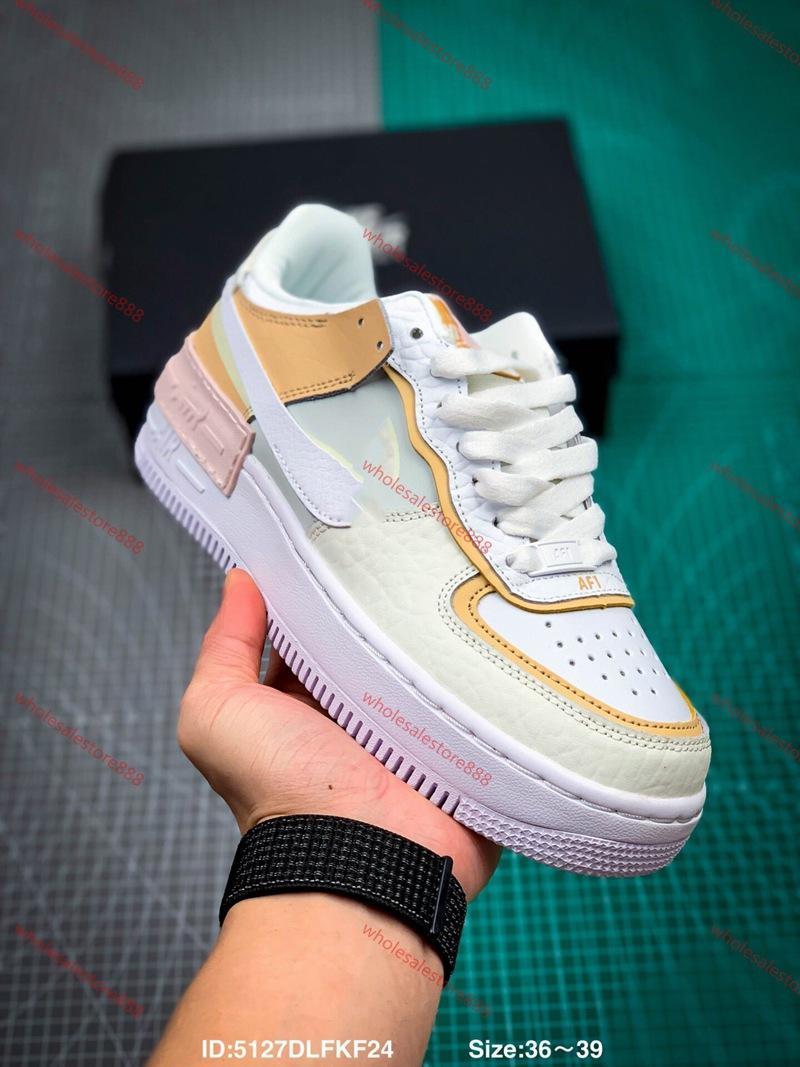 Nike Air Force 1 NIKE AIR FORCE 1 sombra xshfbcl torção Tropical Para MenWomen alta qualidade one 1 calçados casuais Low Cut Todas Branco Preto Cor Sneakers Casual