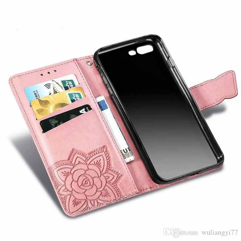 PU Leather Flip Wallet Cover for xs iphone x Titular XR Cartão Lanyard Suporte para IPhone 7 mais 8 XS Max