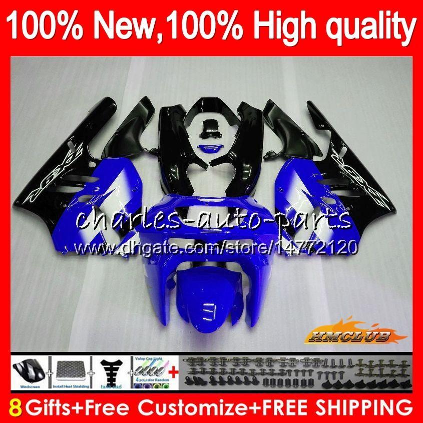 Lichaam voor Kawasaki ZX900 900 CC Blauw Zwart ZX9R 94 95 96 97 47HC.20 ZX 900 9 R 94 97 ZX 9R 900CC ZX-9R 1994 1995 1996 1997 Volledige kuipet