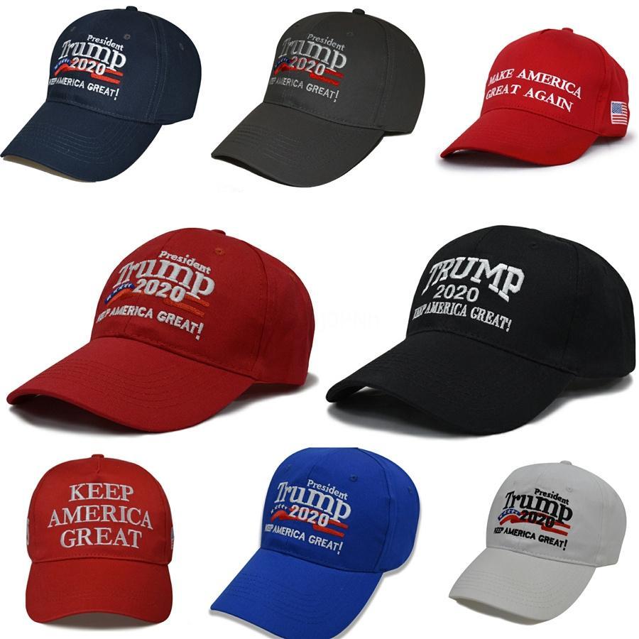Faire Amérique Great Again Caps broderie Président Trump 2020 Base-ball Casquette adulte Mode Sport Hat 50 1pcs Dhl gratuit # 916
