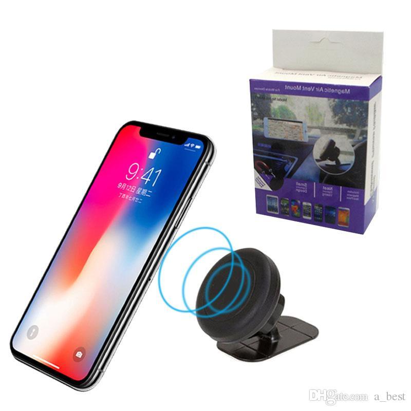 Supporto magnetico universale per montaggio su auto stick per cruscotto per telefoni cellulari e mini tablet con rapido cambio rapido per iPhone cellulare Samsung