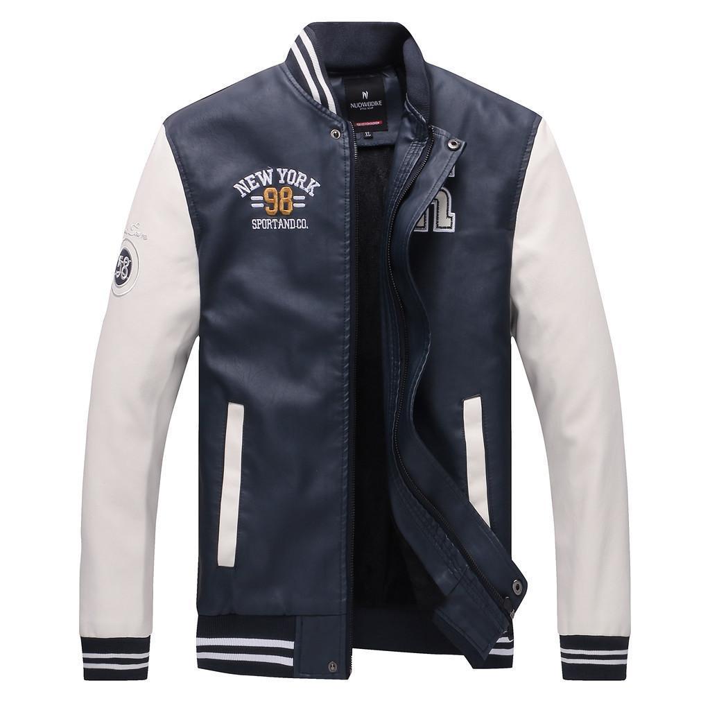 Yeni Erkek / Boy Beyzbol Ceket Erkek streetwear Moda Tasarımı Erkek Slim Fit Koleji Varsity Ceket Erkekler Coat jaqueta masculina