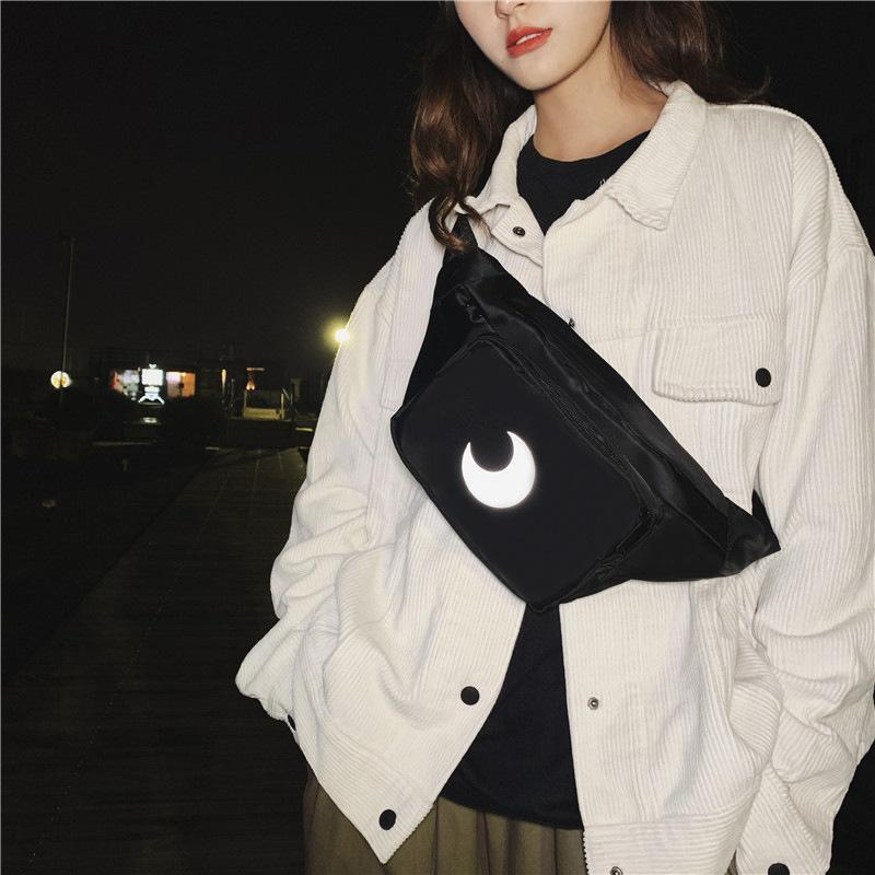 2020 New Simple Bag Chest Shoulder Reflective Cycling Fashion Korean Women's Casual Bag Ohfko