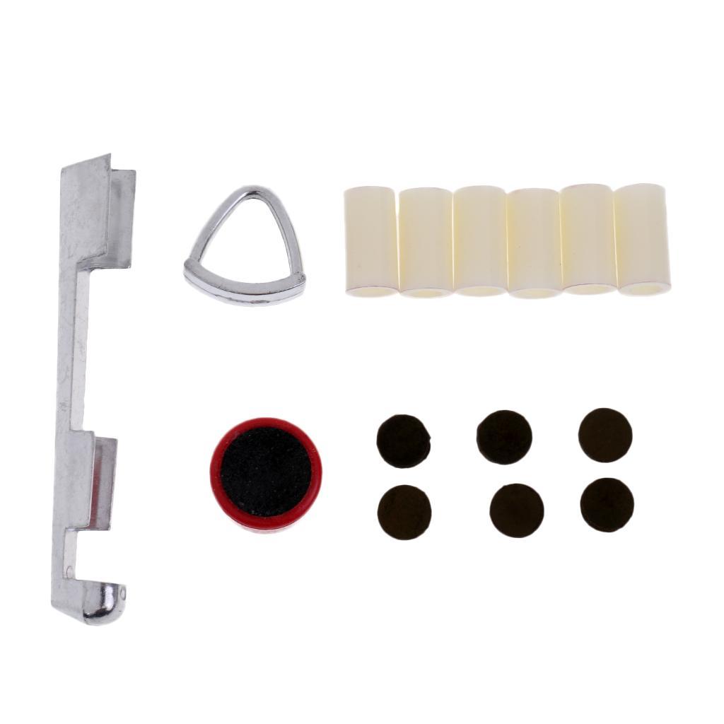 당구 수영장 큐 수리의 고품질 세트 팁 페럴 Scuffer 클램프를 포함 KIT
