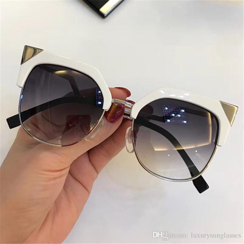 Lüks Tasarımcı Orijinal Kutusu ile 0149 Güneş Büyüleyici Kedi Göz 0149S Kadın Moda Gözlük Üst Kalite UV Koruma Güneş