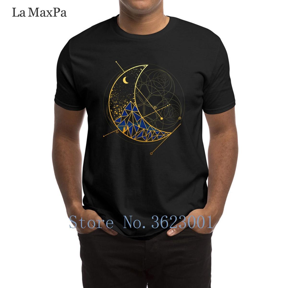 Impression unique T-shirt homme Moon Mountain T-shirt élégant 2018 T-shirt Homme authentique Euro Taille S-3XL T-shirt Hiphop Top