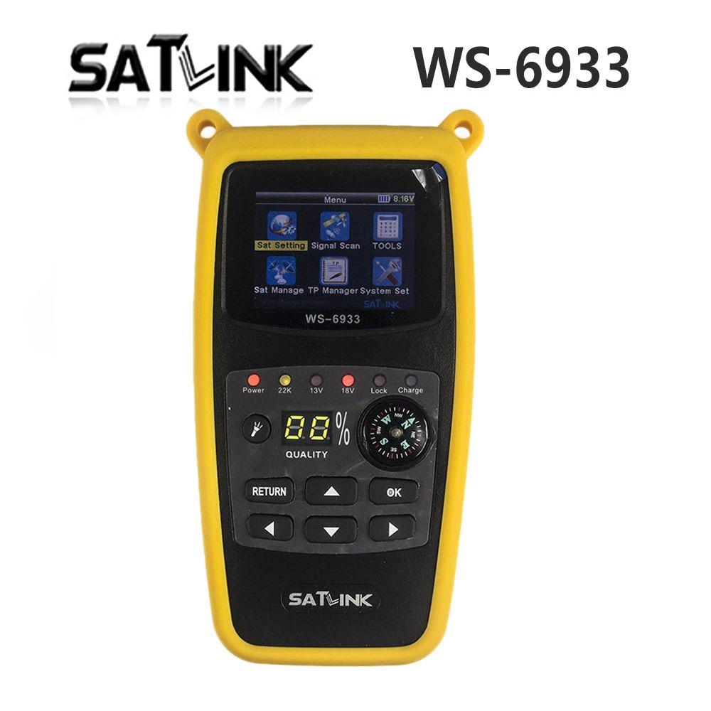 Satlink WS6933 LCD Satellite Finder 미터 디지털 위성 TV 수신기와 컴퍼스 디지털 위성 신호 파인더 미터