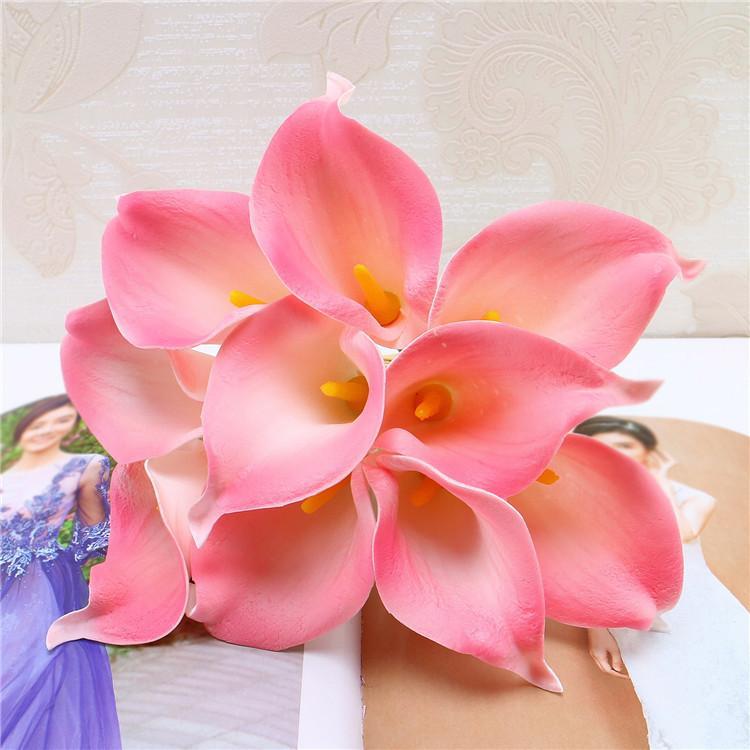 DES FLORAL Fleur Décorative Artificielle Mini Calla Lis Bouquet Pour La Décoration De Mariage Artificielle Fleurs Calla Lys bouquet pour mariage