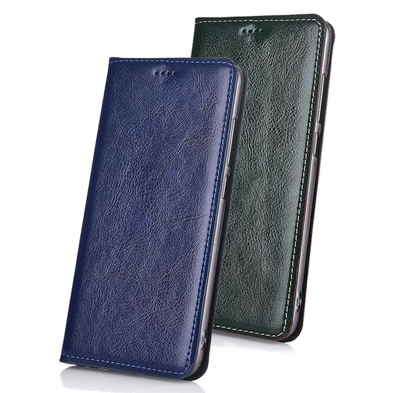 Genuine cartão de couro de vaca case capa case para asus zenfone max pro m1 zb602kl case stand virar clássico tampa do telefone t190710