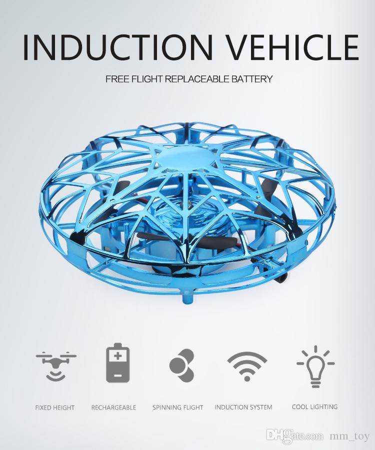 مصغرة UFO الطائرة بدون طيار اليد مشتغل RC طائرات الهليكوبتر Quadrocopter درون الأشعة تحت الحمراء التعريفي الطائر الكرة الطائرة لعب الاطفال