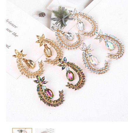 2pairs / много свободной перевозка груза высокого качества благородного кристалл алмаз 925 серебра Нуждаясь повелительница серьга 15g