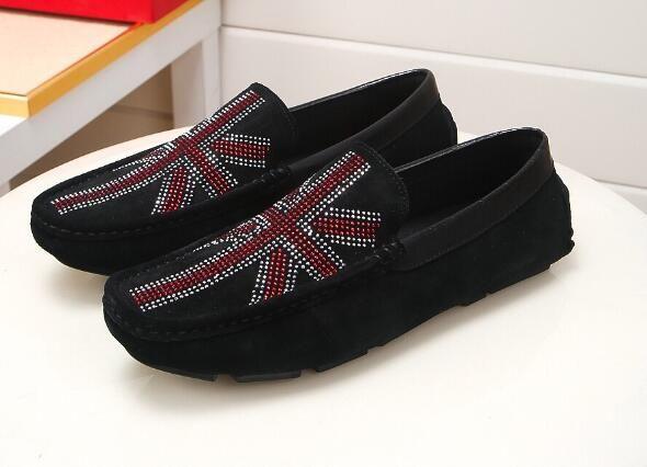 Luxury New UK Досуг Мужские Мокасины замша Rhinestone Gommino скольжения на прогулке Свадебные платья Бизнес обувь Размер 38-45