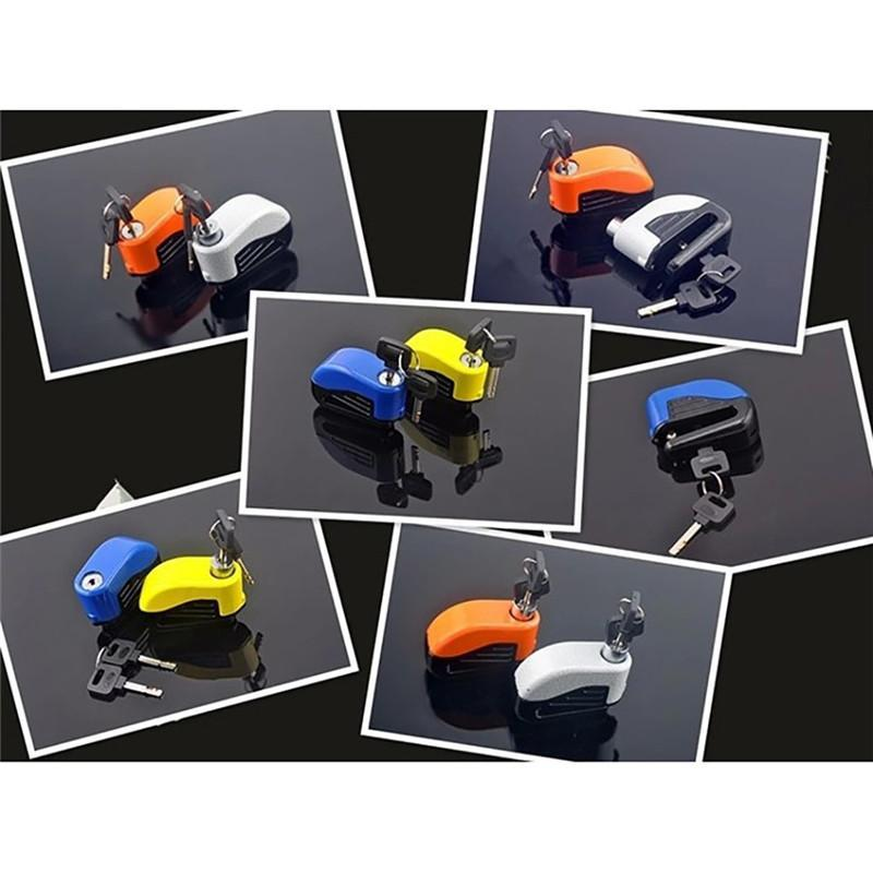 Mini Bicycle Alarm Lock Disc Brakes Bicycle Lock Bike Mountain Fixed Anti Theft Security Safety Bicycle Parts Wholesale