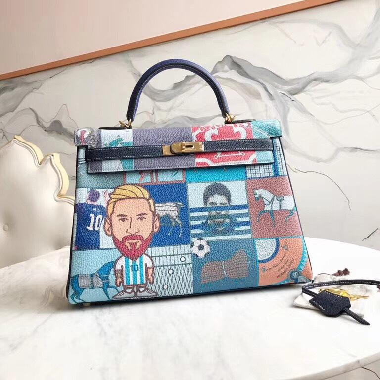wholelsale best quality orginal graffiti 28cmkeily bag,togo skin,handmade,wax thread,many colors with different size on website or instagram