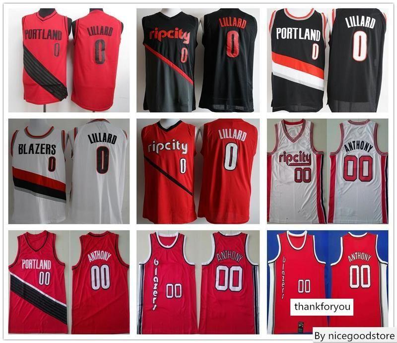 Portland Trail Blazers Basketball Damian Lillard 0 Carmelo Anthony 00 C. J. McCollum 3 Hassan Whiteside 21 Vorreitern New Jersey