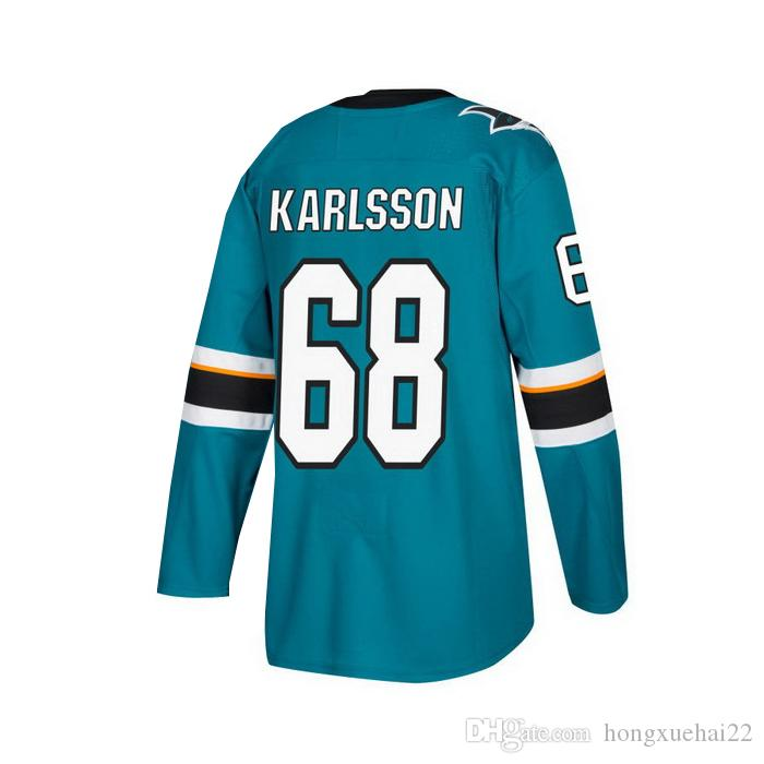 MEN'S # 68 Melker Karlsson HOME GREEN HOCKEY AUTHENTIQUE ICE JERSEY TAILLES (S / 46) (M / 50) (L / 52) (XL / 54) (XXL / 56) (XXXL / 60