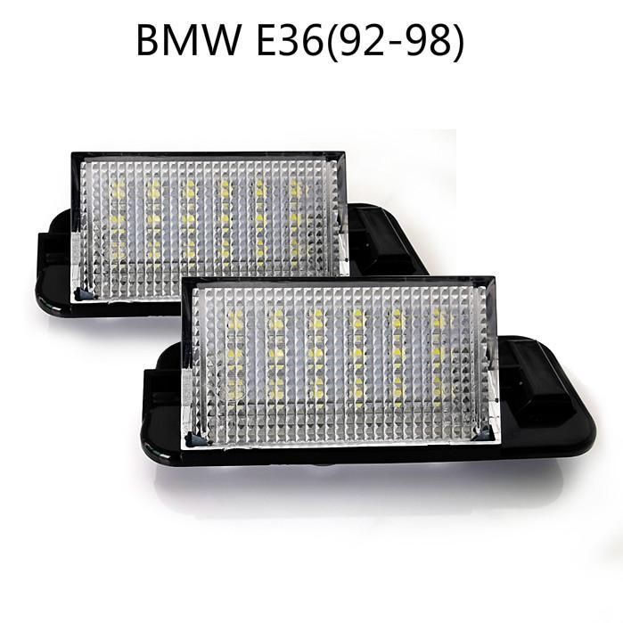 la matrícula del LED de coches Lámparas para BMW E36 (92-98) del precio de fábrica llevó la luz de matrícula 12V 6000K