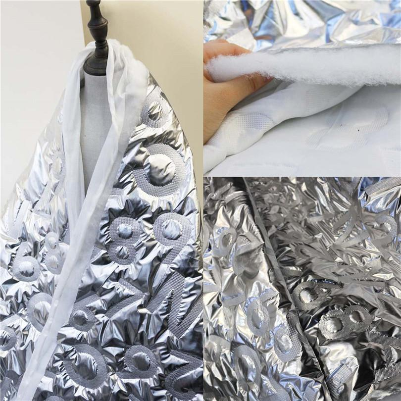 50cm*150cm/piece Three-layer sandwiched mian mian clothing metal sense designer fabric silver coating fabric