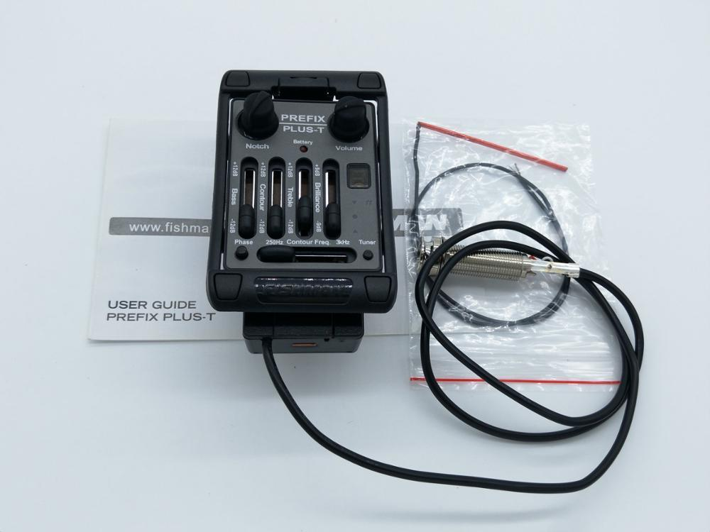 Fishman Prefix Plus T-pre-amplificatore Matrix Pickup sintonizzatore EQ Red raccolta piezo-elettrica Equalizzatore Sistema chitarra acustica Pickup