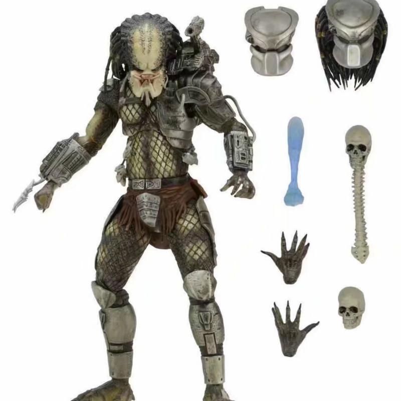 NECA Avp Aliens Vs Predator serie de Alien Pacto Elder figuras Predator Hunter Serpiente Youngblood de Predator juguetes de acción