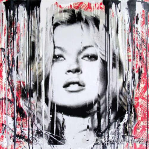 Mr Brainwash Oil Painting On Canvas Urban Art Banksy Kate Moss Models Wall Art Home Decor Handcrafts /HD Print 191021
