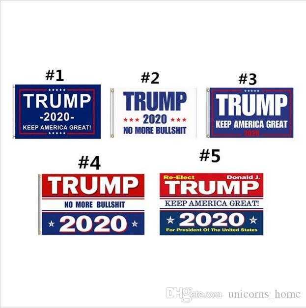 Trump 2020 Bayrak Baskı Amerika Büyük Afiş Dekor Tutun Başkan ABD Amerikan Seçim No More Bullshirt Donald Bayrağı için 90x150 cm CNY652