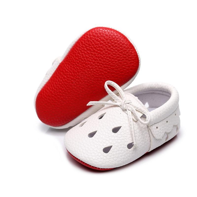 Лето Девочка Обувь Мода Полые Бант Мокасины Кожаные Ботинки Милый Лепесток Боковой Кружева Мягкой Подошвой Малышей Первый Ходунки