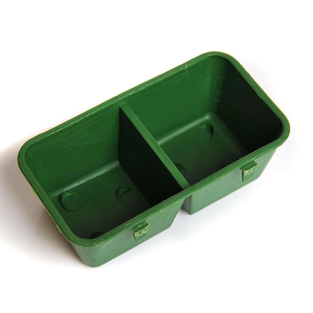 Su Pet Çift Papağan Gıda Bowl Feeding 1 Pratik Plastik Aksesuarlar Kuş In Green 2 Malzemeleri