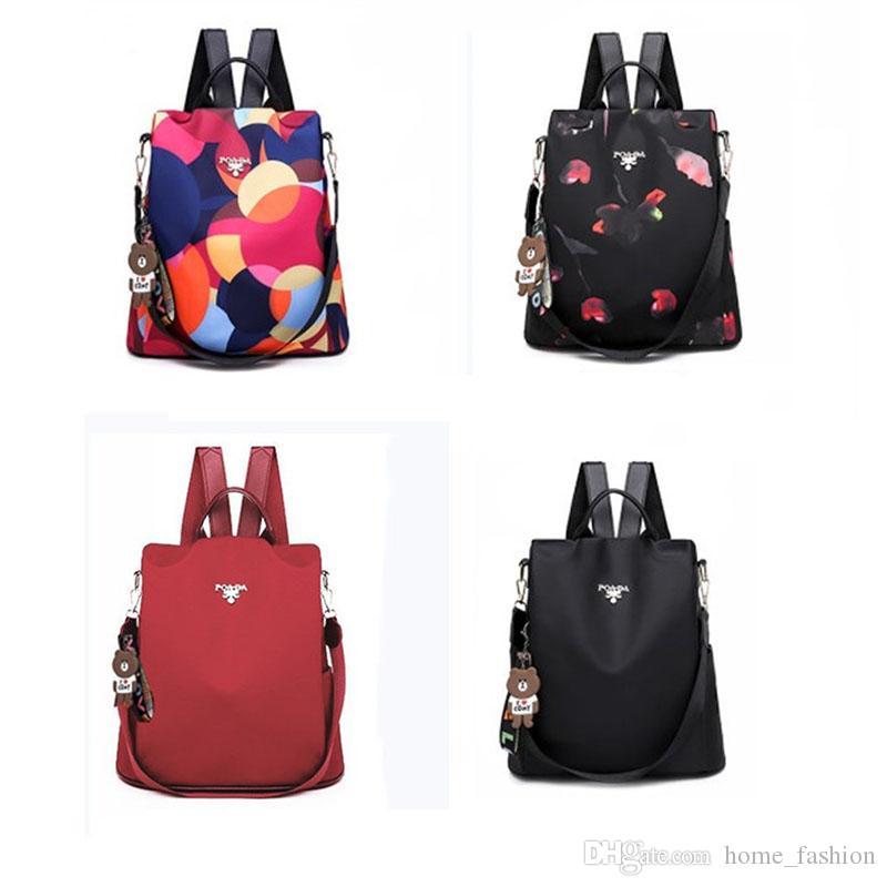 Neueste Süße Frauen Mädchen Dame Fashion Nette Blume College School Campus Reisetasche Rucksack der Rucksack Oxford Tuch Rucksack