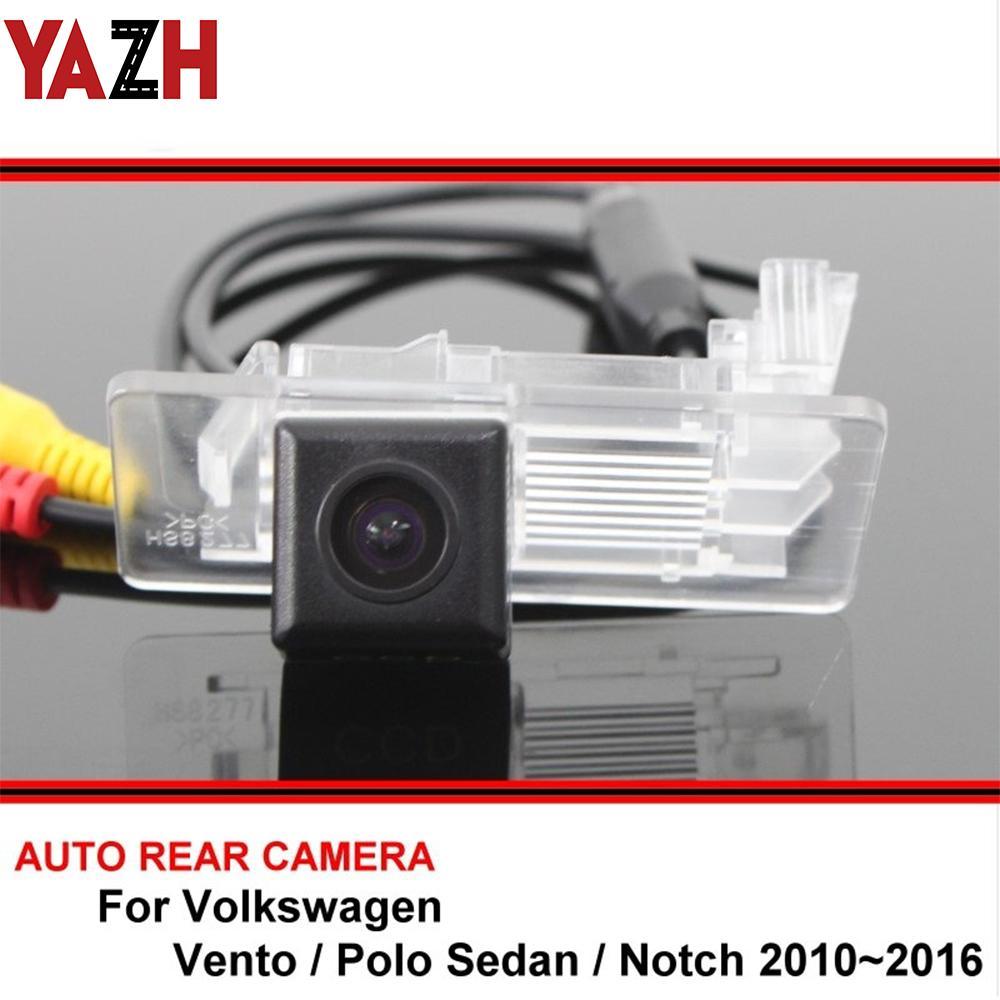 HD CCD retrovisore auto telecamera posteriore per Vento VW Polo Sedan Notch inverso dell'automobile camma impermeabile di sostegno di visione notturna