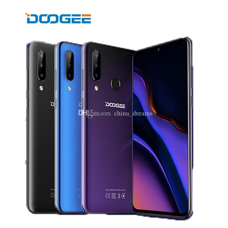 Doogee N20 Cep Telefonu 6.3 '' FHD + Büyük Ekran 16MP Üçlü Geri Kamera 4 GB 64 GB MT6763 Octa Çekirdek 4350mah Smartphone