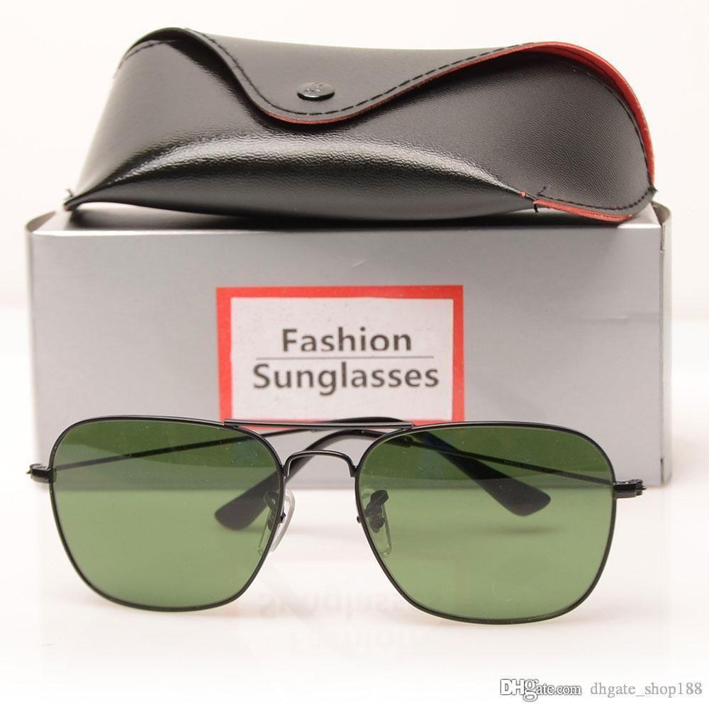 New 3136 Brand Designer Fashion Pilot Sonnenbrille Männer und Frauen Sonnenbrille Sport Vintage Sonnenbrille Retro Brillen mit Box und Fällen