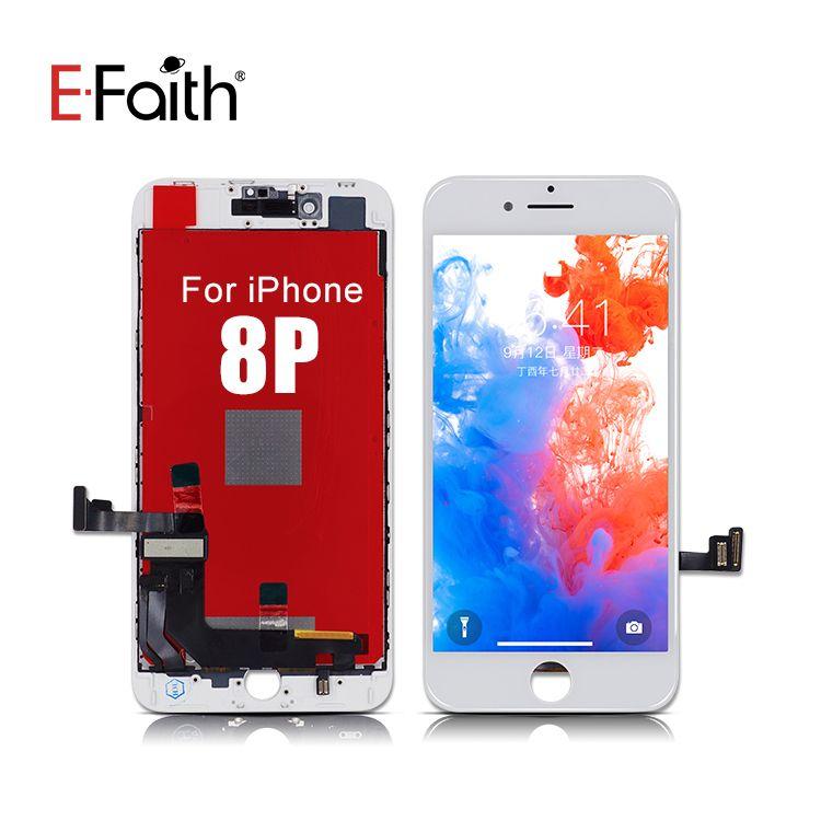 Efaith Ocena LCD dla iPhone 8 Wymiana ekranu Wymiana obiektywu Pantalla z dotykowym Digitizer dla iPhone 8 Plus z bezpłatną wysyłką DHL