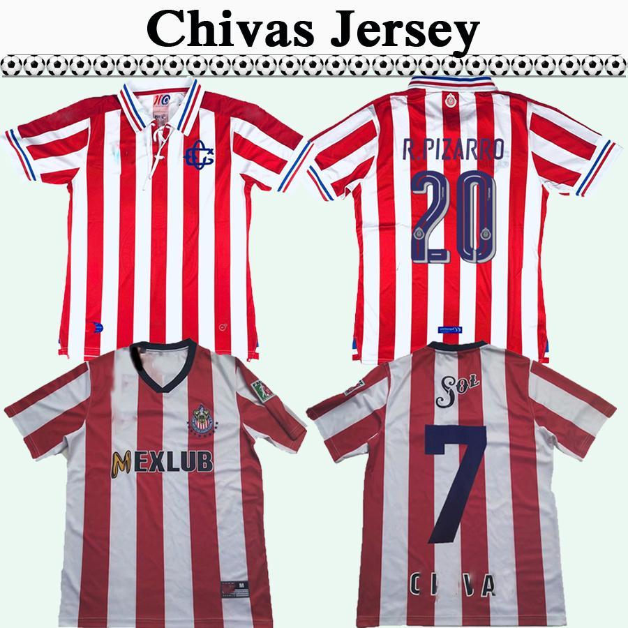 1996 1997 Chivas de Guadalajara RAMON RAMIREZ RETRO Soccer Jersey 110TH R. PIZARRO Home Red Football Shirt Camisetas de fútbol Uniforms