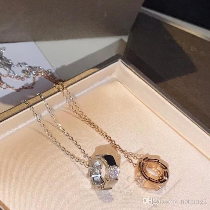 Frauen Bankett-Partei Schmuck 925 Sterling Silber überzogene 18k Gold Schlange Halskette Halskette
