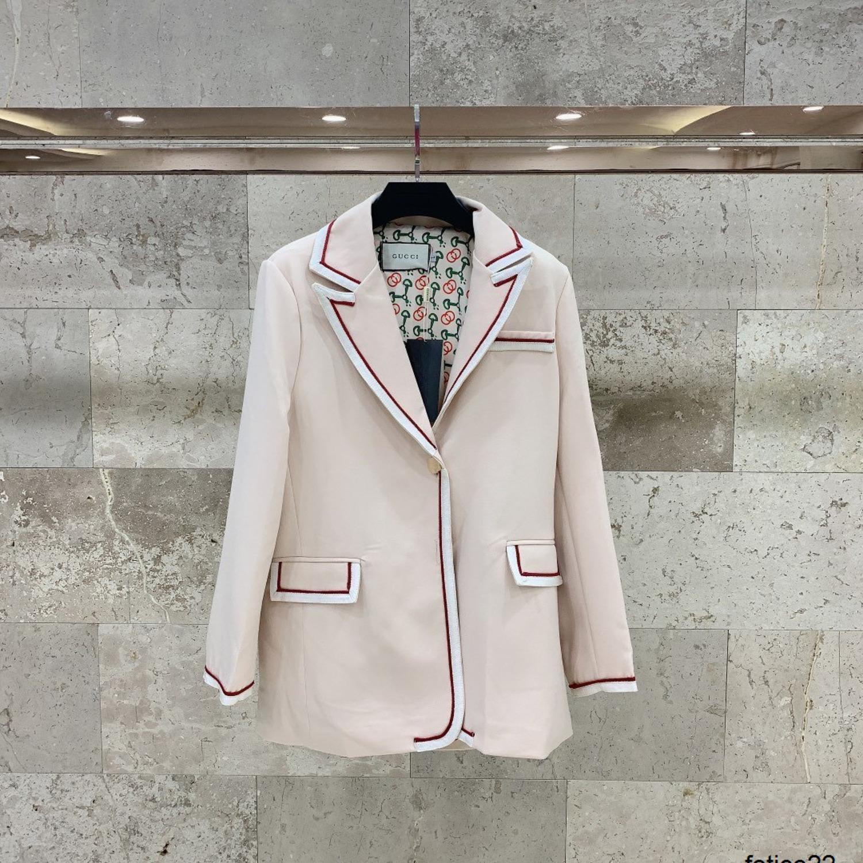 Весна осень сезон тенденция новый досуг персонализированные мода открытый топ светлый цвет Малый костюм 040509