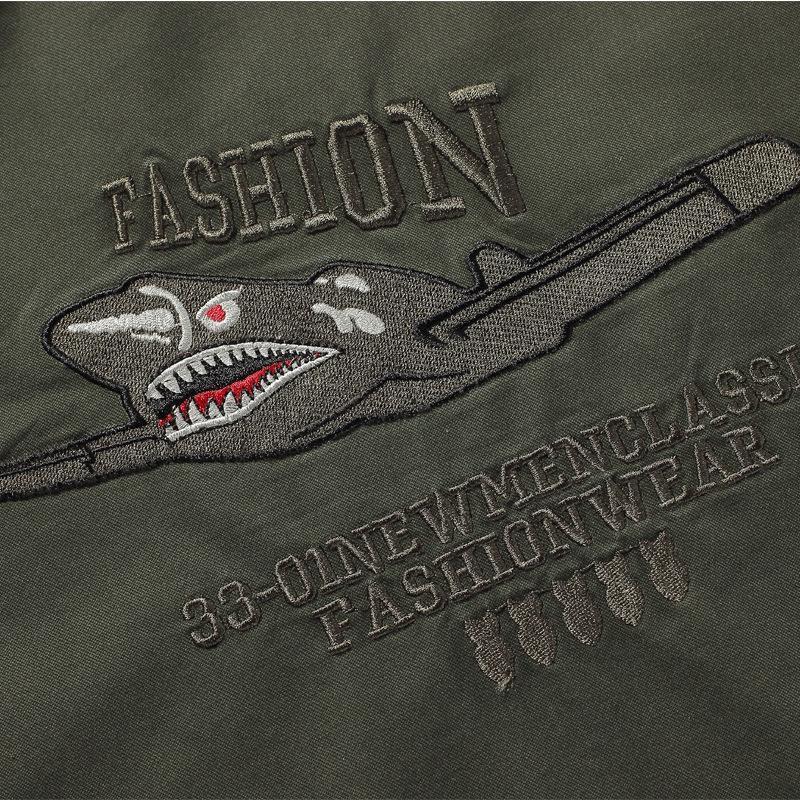 Vuelo juego de los hombres de vuelo y el otoño invierno de los hombres de la chaqueta de algodón cepillado y gruesa capa de la Fuerza Aérea