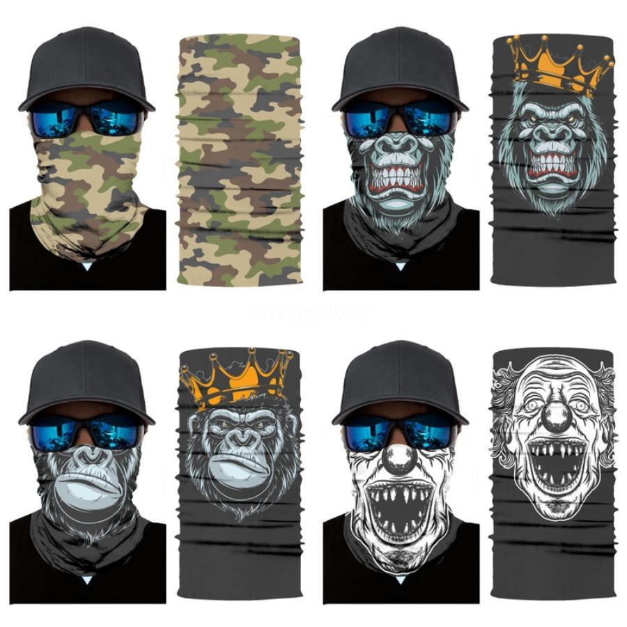 Toalla mágica Máscaras faciales Protector solar Sombrero cráneo bufanda de verano al aire libre Ciclismo Pañuelos Pañuelos mascarilla de protección Gga3434 # 819 # 149