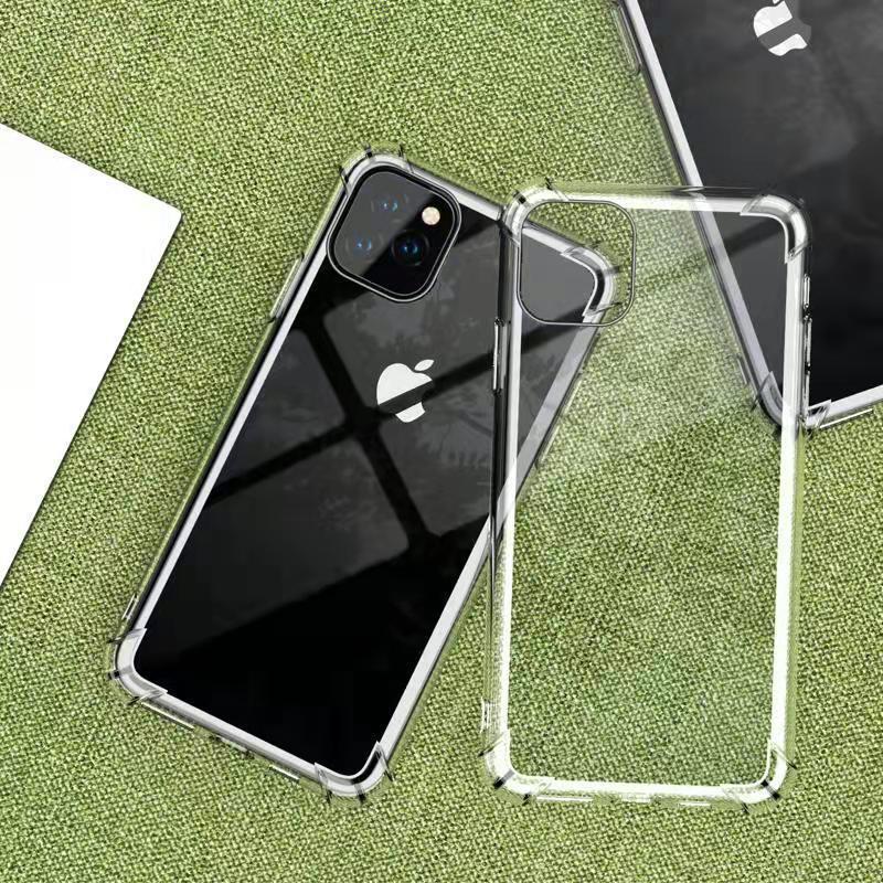 زاوية وسادة الهواء شفافة Silm لينة Tpu حالة ل iPhone SE 2020 11 برو ماكس XS XR 8 7 6S بالإضافة إلى 5s غلاف سيليكون مضاد للصدمات
