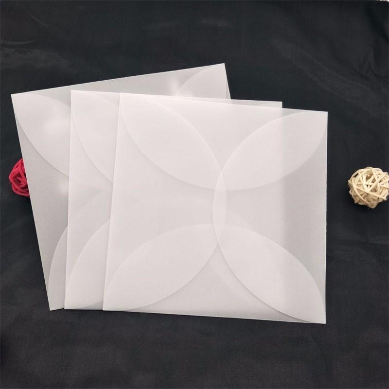 50 pezzi Traslucido Busta trasparente Invito Cover-3 dimensioni opzionali