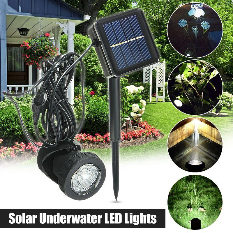 Edison2011 6LED IP68 Waterproof Solar Led Spotlight 600mA Jardim Piscina Pond Outdoor Mancha Solar Light Lamp Light Control