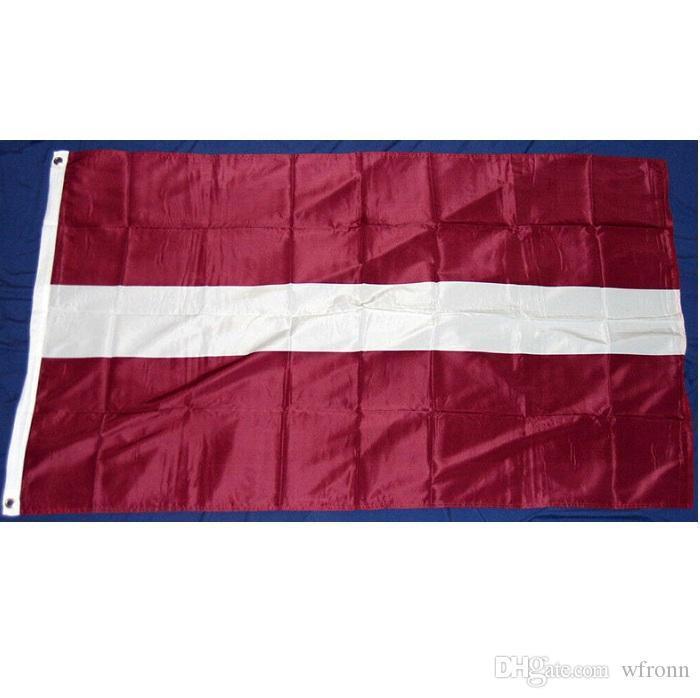 Lettonia Bandiera 0.9x1.5m LAT bandiera nazionale del paese Bandiera Interni Esterni per la decorazione domestica Parade School Party Activity