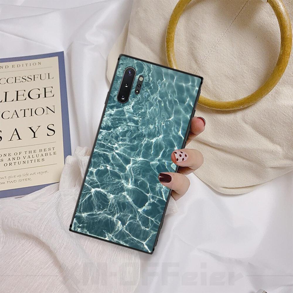 2020 Piscine d'eau DIY luxe Téléphone Case pour Samsung A50 S10 plus S10E Note9 Note8 7 10 Pro gros