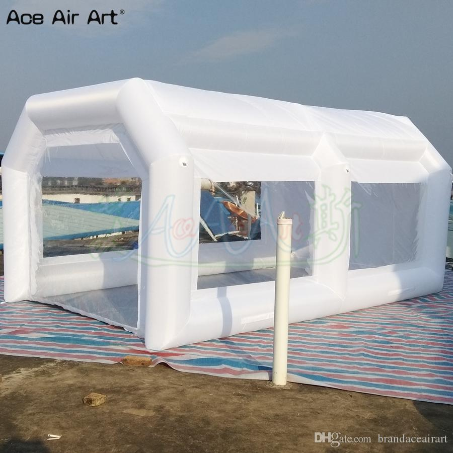 2020 White Design And Portable Car Paiting Tent Inflatable Spray