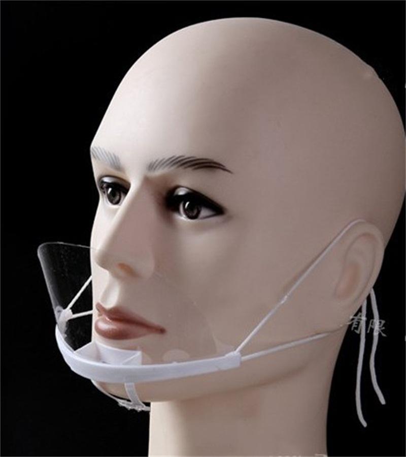 안전 Mascherine 입이 0 안티 타액 비말 클리어 페이스 마스크를 플라스틱 보호 호흡 용 주방 도구 마스크 7hh E1