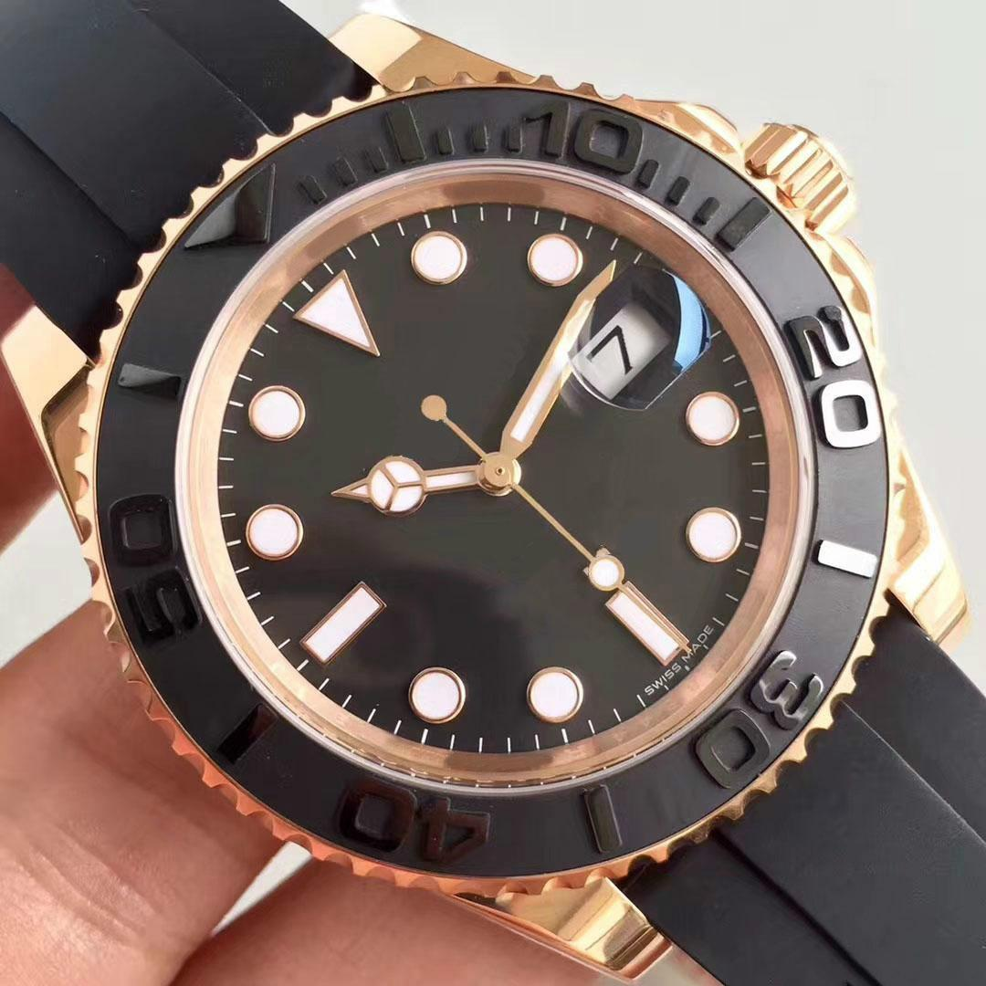 2020 Erkek Saatler harika Üst Sport saatı Rose Gold Otomatik Mekanik Hareket Paslanmaz Çelik Su geçirmez Erkek İzle Saatler